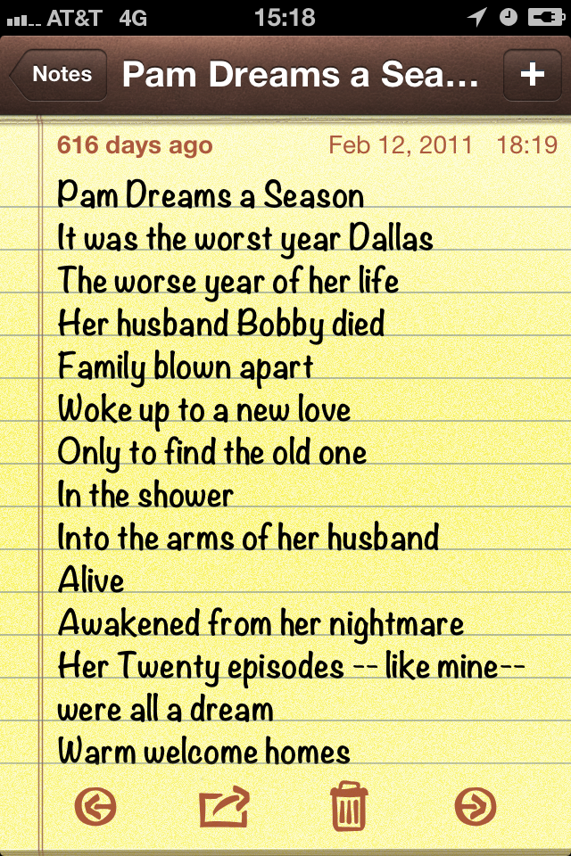 "Pam Dreams a Season ""It was the worst year of Dallas"""