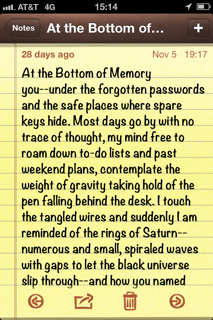 "IPhone Poem ""At the Bottom of Mercury"""