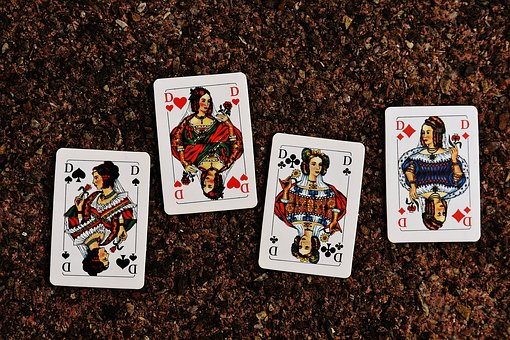 Four Queens Playing Cards