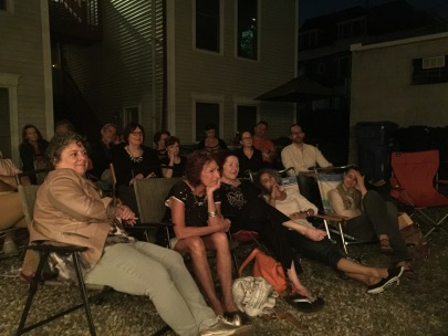 The supportive audience at the reading
