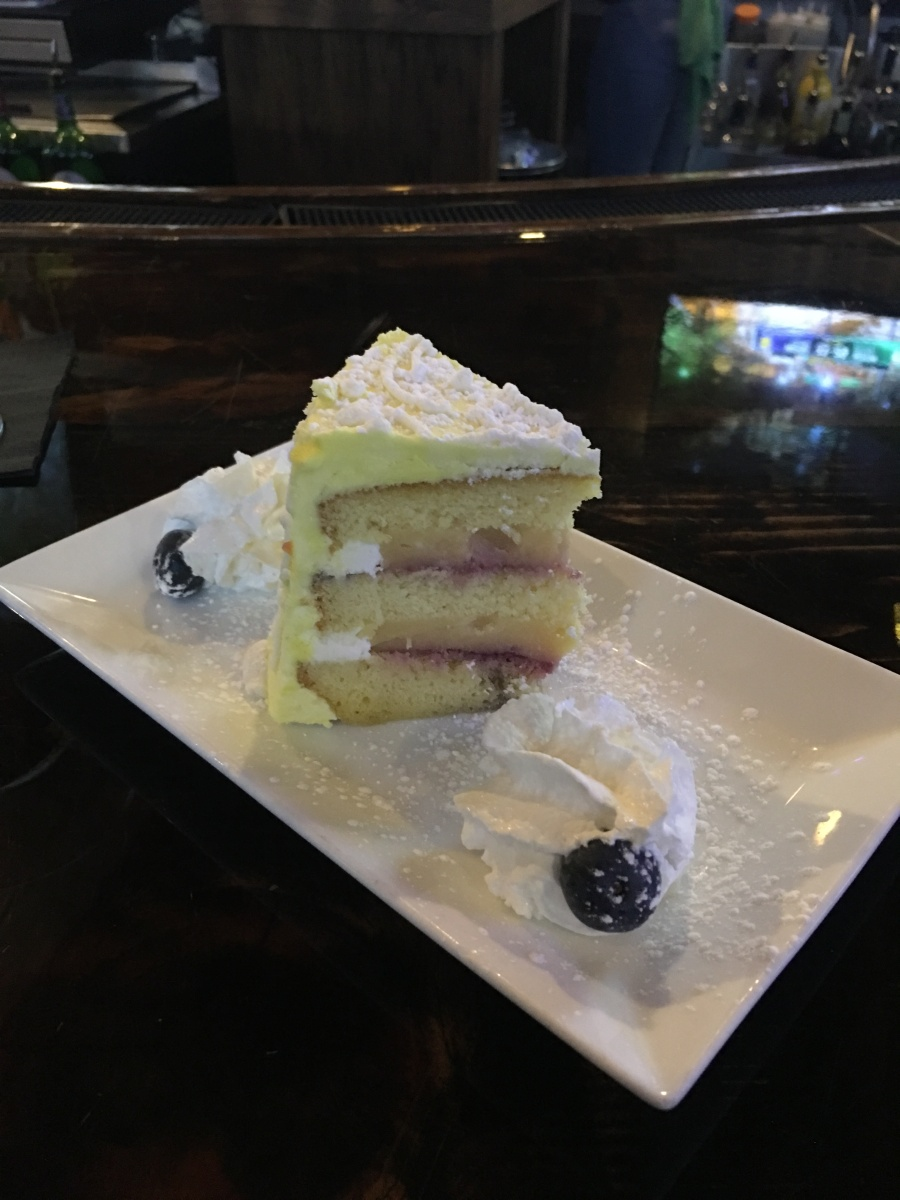 Lemon layer cake from Hamilton's in Brookline