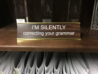 I'm Silently Correcting Your Grammar