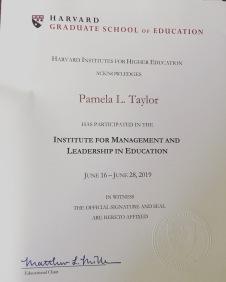 Harvard MLE certificate