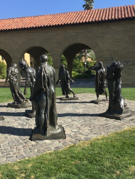 Rodin's sculpture The Burghers of Calais at Stanford University